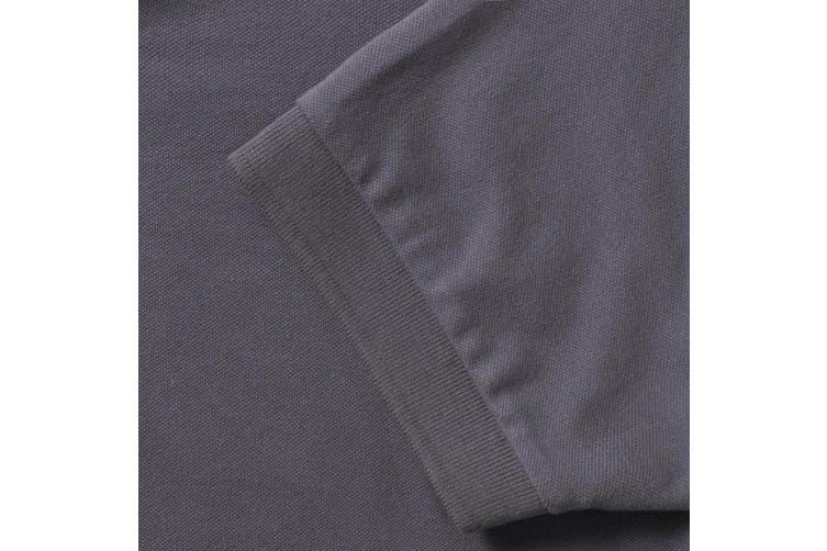 Russell Mens Stretch Short Sleeve Polo Shirt (Convoy Grey) (XL)