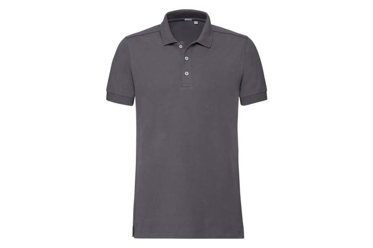 Russell Mens Stretch Short Sleeve Polo Shirt (Convoy Grey) (3XL)