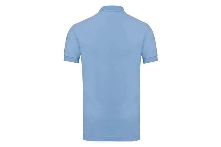 Russell Mens Stretch Short Sleeve Polo Shirt (Sky Blue) (L)