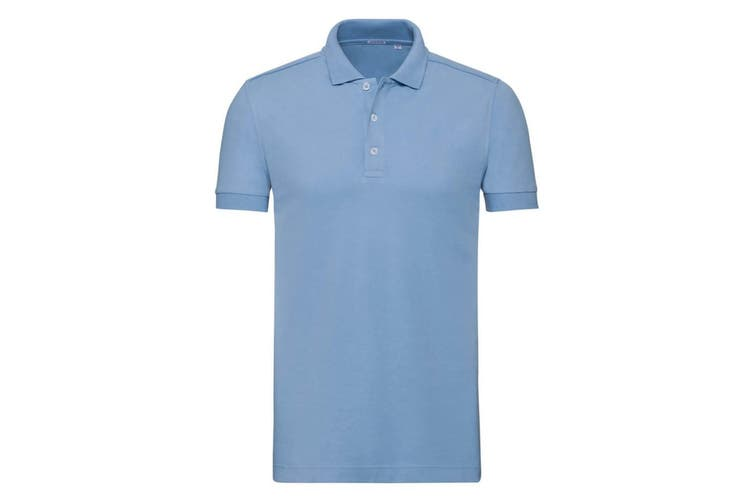 Russell Mens Stretch Short Sleeve Polo Shirt (Sky Blue) (3XL)
