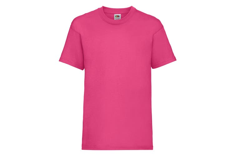 Fruit Of The Loom Childrens/Kids Unisex Valueweight Short Sleeve T-Shirt (Fuchsia) (7-8)