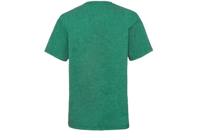 Fruit Of The Loom Childrens/Kids Unisex Valueweight Short Sleeve T-Shirt (Retro Heather Green) (14-15)
