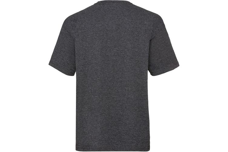 Fruit Of The Loom Childrens/Kids Unisex Valueweight Short Sleeve T-Shirt (Dark Heather) (12-13)