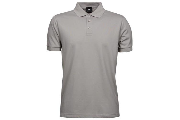 Tee Jays Mens Luxury Stretch Short Sleeve Polo Shirt (Stone) (3XL)