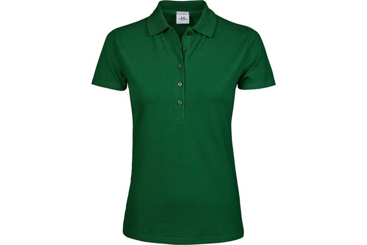 Tee Jays Womens/Ladies Luxury Stretch Short Sleeve Polo Shirt (Forest Green) (3XL)
