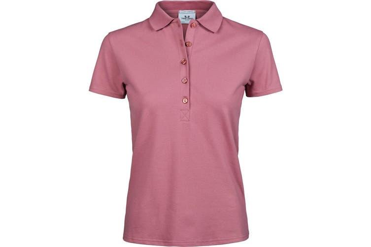 Tee Jays Womens/Ladies Luxury Stretch Short Sleeve Polo Shirt (Rose) (3XL)