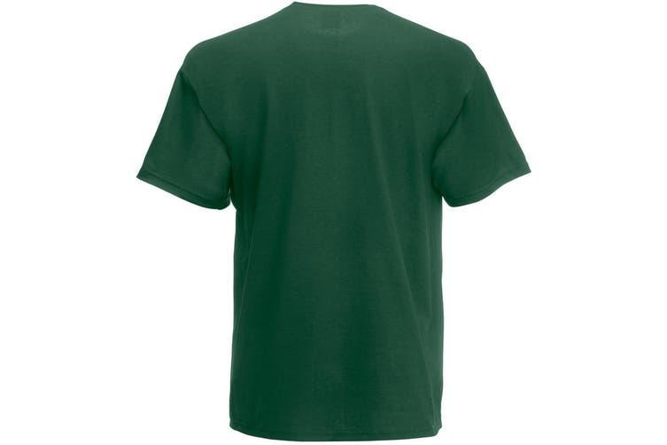 Fruit Of The Loom Mens Valueweight Short Sleeve T-Shirt (Bottle Green) (M)