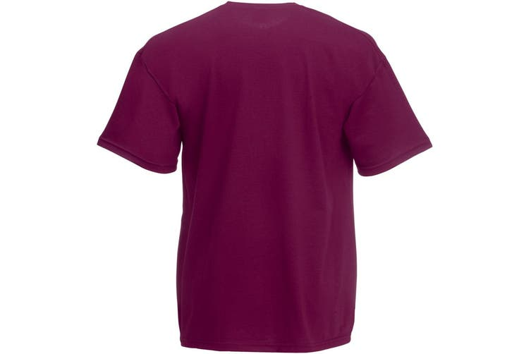 Fruit Of The Loom Mens Valueweight Short Sleeve T-Shirt (Burgundy) (L)