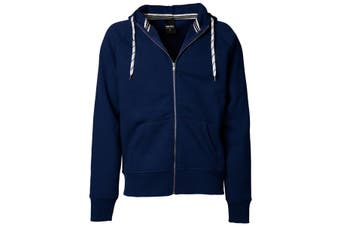 Tee Jays Mens Full Zip Hooded Sweatshirt (Navy Blue) (3XL)