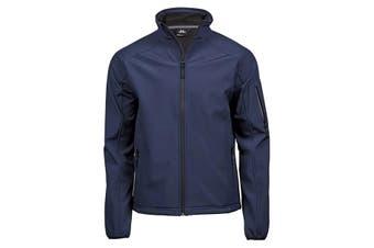 Tee Jays Mens Performance Softshell Jacket (Navy Blue) (XL)