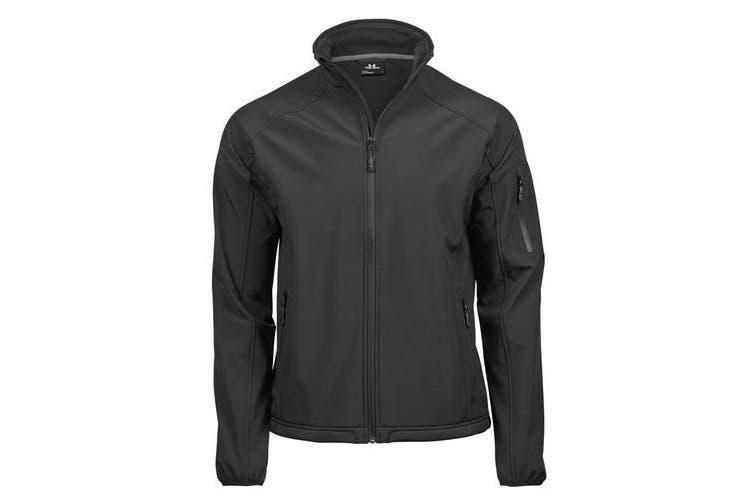 Tee Jays Mens Performance Softshell Jacket (Black) (3XL)