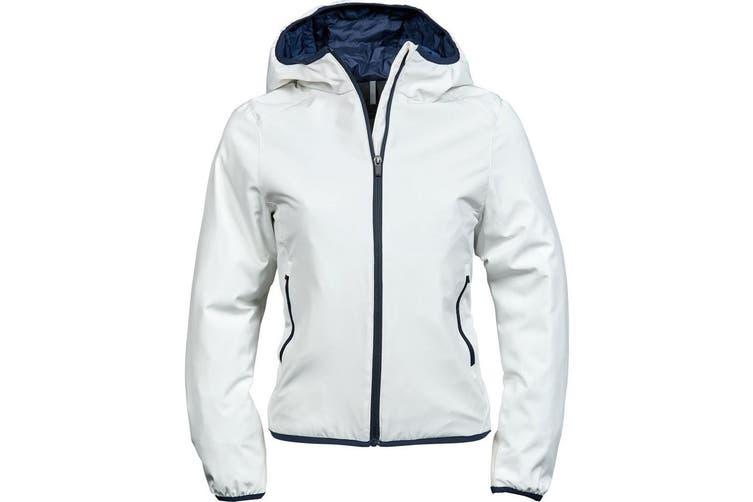 Tee Jays Womens/Ladies New York Jacket (Snow/Navy) (3XL)