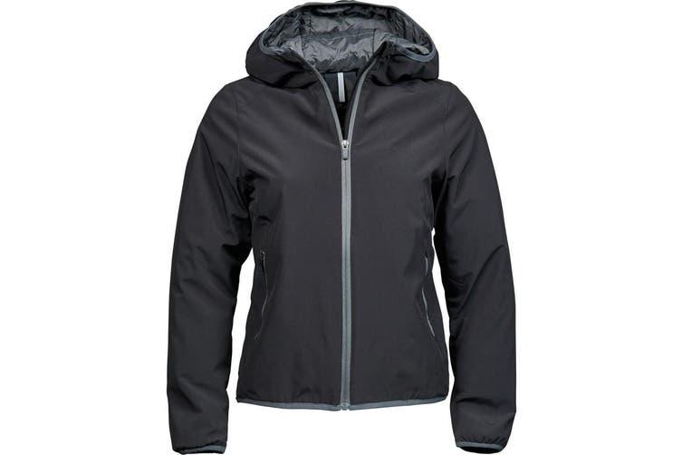 Tee Jays Womens/Ladies New York Jacket (Black/Space Grey) (L)