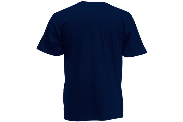 Fruit Of The Loom Mens Screen Stars Original Full Cut Short Sleeve T-Shirt (Deep Navy) (2XL)
