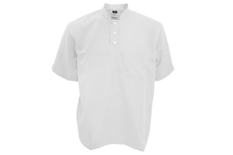 Dennys Unisex Stud Fastened Quick Drying Beauty Tunic (White) (M)