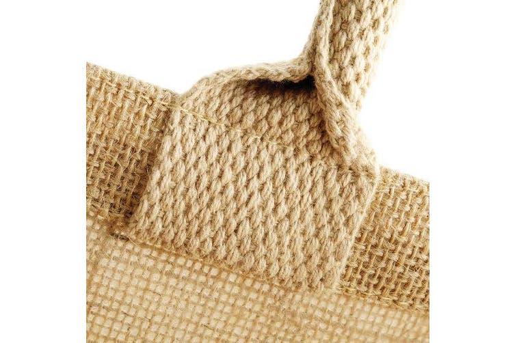 Westford Mill Jute Boutique Shopper Bag (19L) (Natural) (One Size)