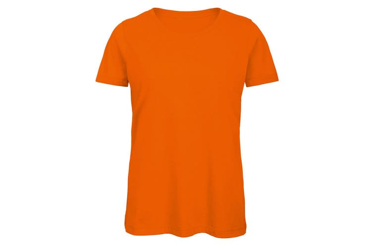 B&C Womens/Ladies Favourite Organic Cotton Crew T-Shirt (Orange) (2XL)