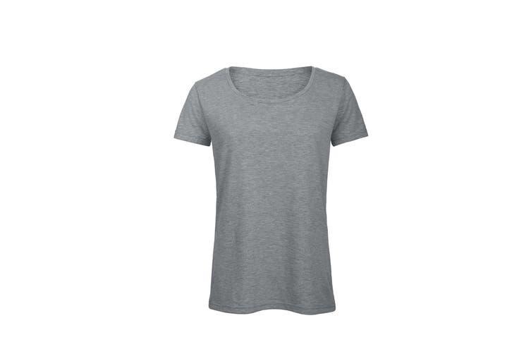 B&C Womens/Ladies Favourite Cotton Triblend T-Shirt (Heather Light Grey) (M)