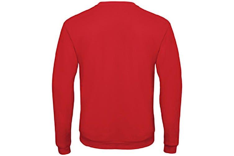 B&C Adults Unisex ID. 202 50/50 Sweatshirt (Red) (2XL)