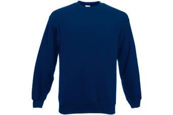 Fruit Of The Loom Mens Set-In Belcoro® Yarn Sweatshirt (Navy) - UTBC365