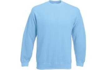 Fruit Of The Loom Mens Set-In Belcoro® Yarn Sweatshirt (Sky Blue) - UTBC365