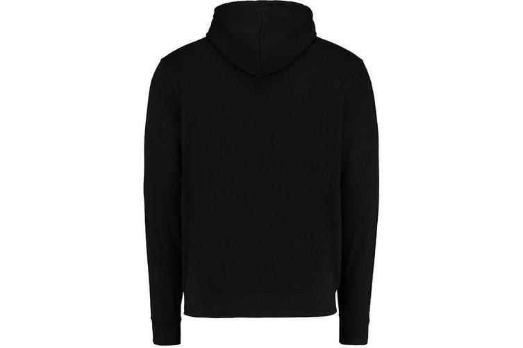 Kustom Kit Mens Full Zip Hooded Sweatshirt (Black) (L)