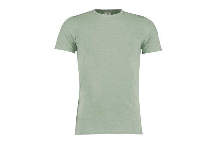 Kustom Kit Mens Superwash 60 Fashion Fit T-Shirt (Sage Marl) (XS)