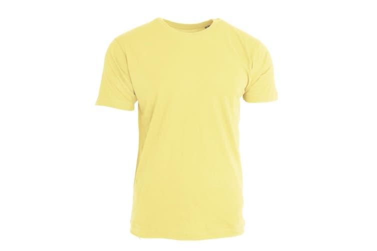 Nakedshirt Mens Larry Short Sleeve Organic Cotton T-Shirt (Cream) (S)