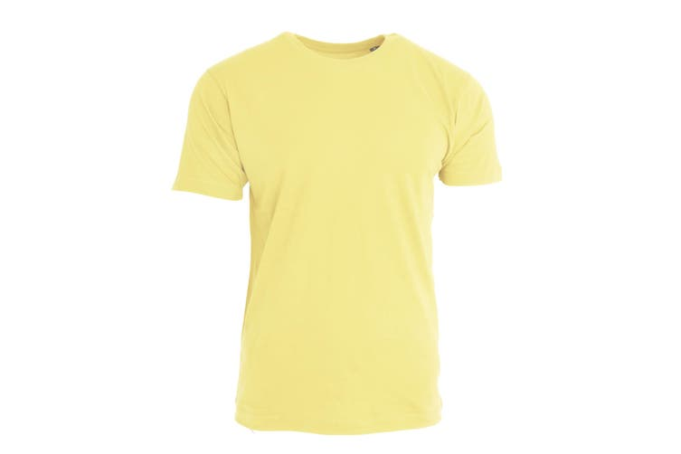 Nakedshirt Mens Larry Short Sleeve Organic Cotton T-Shirt (Cream) (L)