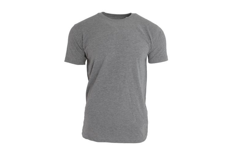 Nakedshirt Mens Larry Short Sleeve Organic Cotton T-Shirt (Heather Grey Melange) (M)