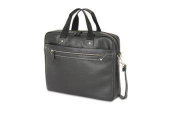 Shugon Munich Faux Leather Briefcase Bag (Black) (One Size)
