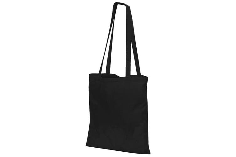 Jassz Bags Budget Promo Long Handle Shopping Bag / Tote (Black) (One Size)