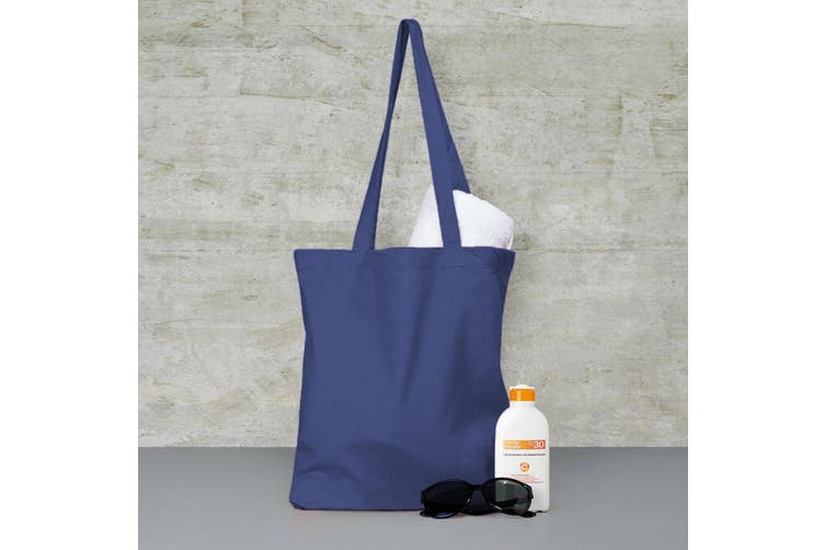 Jassz Bags Budget Promo Long Handle Shopping Bag / Tote (Dark Blue) (One Size)