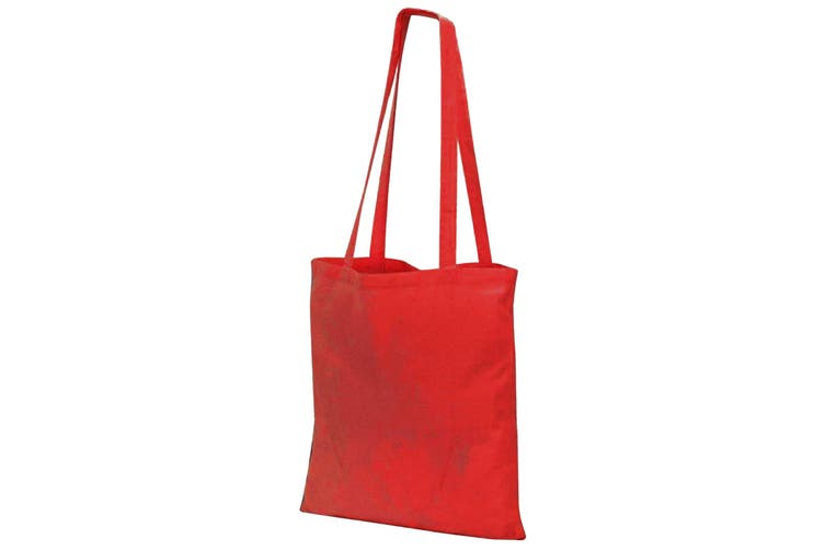 Jassz Bags Budget Promo Long Handle Shopping Bag / Tote (Red) (One Size)