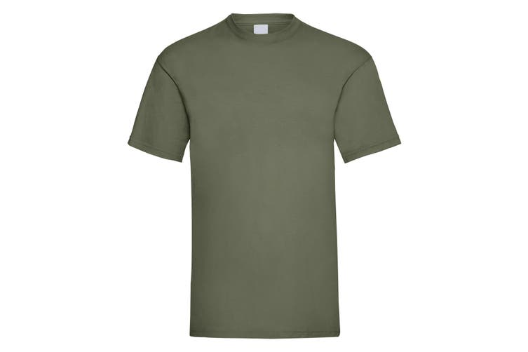 Mens Value Short Sleeve Casual T-Shirt (Olive Green) (X Large)