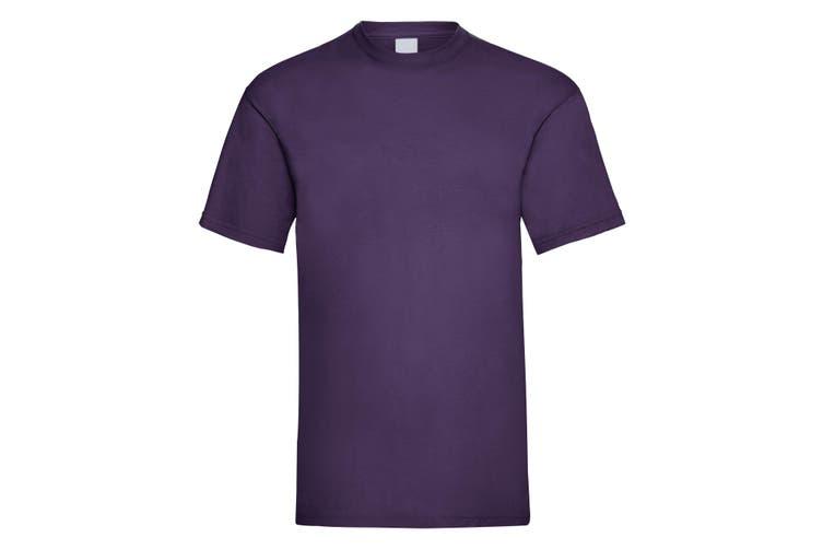 Mens Value Short Sleeve Casual T-Shirt (Grape) (Small)