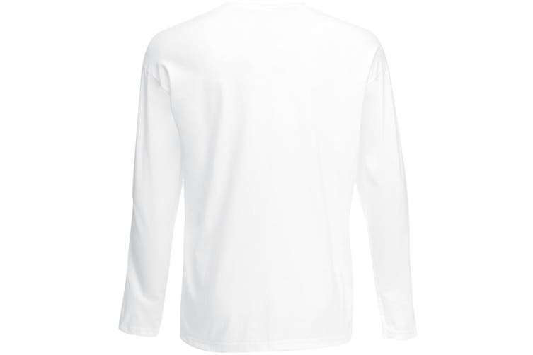 Mens Value Long Sleeve Casual T-Shirt (Snow) (Large)