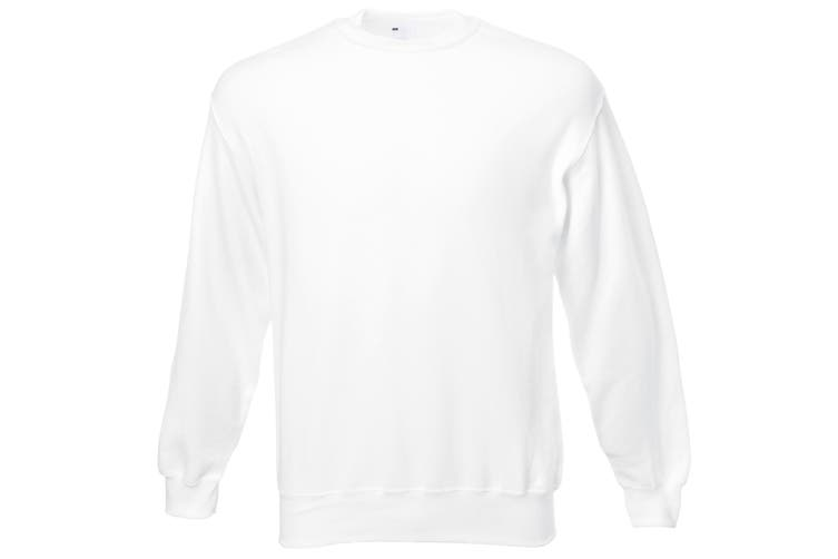 Mens Jersey Sweater (Snow) (Large)