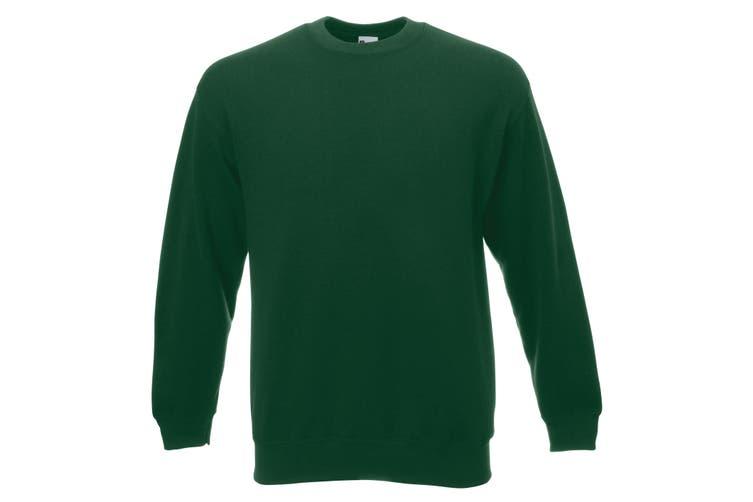 Mens Jersey Sweater (Dark Green) (Large)