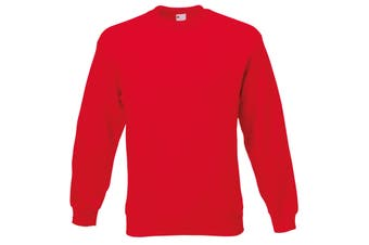 Mens Jersey Sweater (Classic Red) (Small)