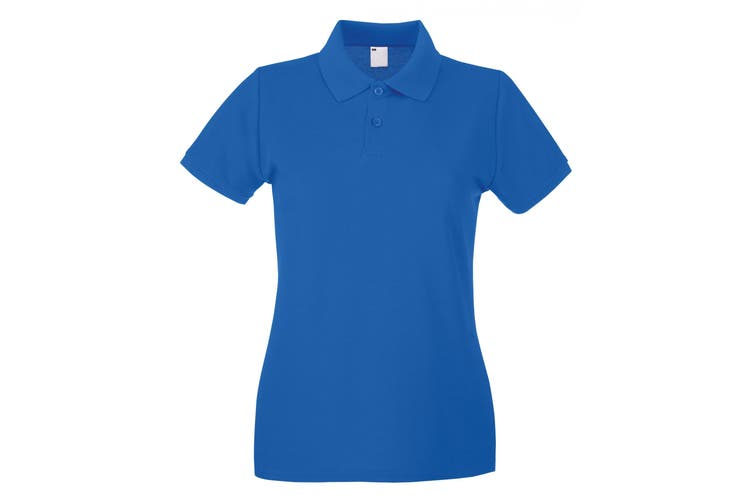 Womens/Ladies Fitted Short Sleeve Casual Polo Shirt (Cobalt) (X Large)