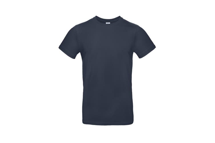 B&C Mens #E190 Tee (Navy Blue) (XS)