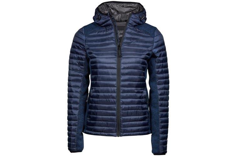 Tee Jays Womens/Ladies Aspen Crossover Jacket (Admiral Navy/Navy Melange) (S)