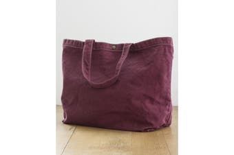 Bags By Jassz Small Canvas Shopper (Wine) (One Size)