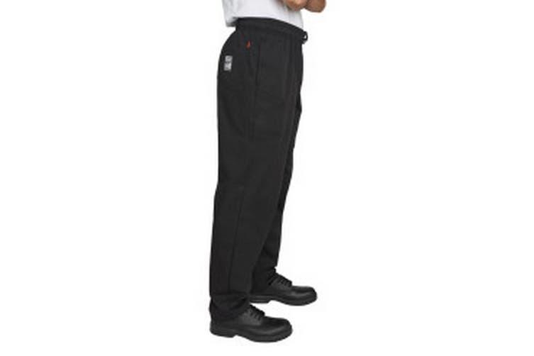 Dennys Mens Executive Chef Trousers (Jet Black) (L)