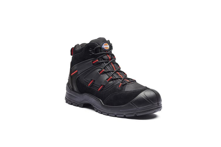 Dickies Mens Everyday Safety Boot (Jet Black/Red) (7)