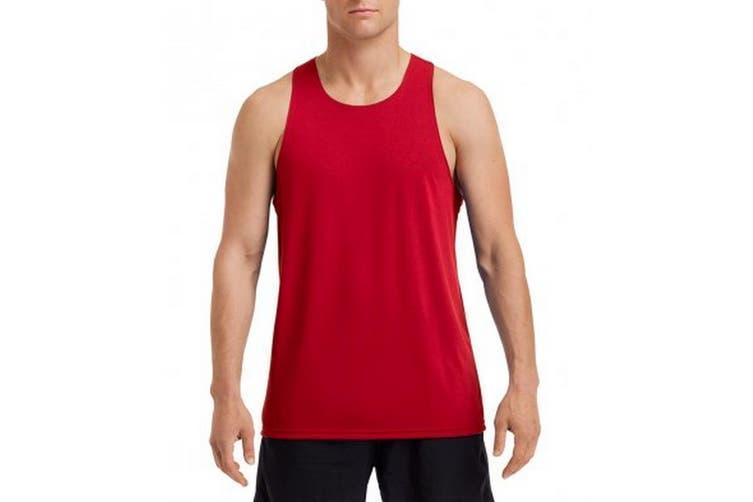 Gildan Mens Performance Singlet (Sport Scarlet Red) (2XL)