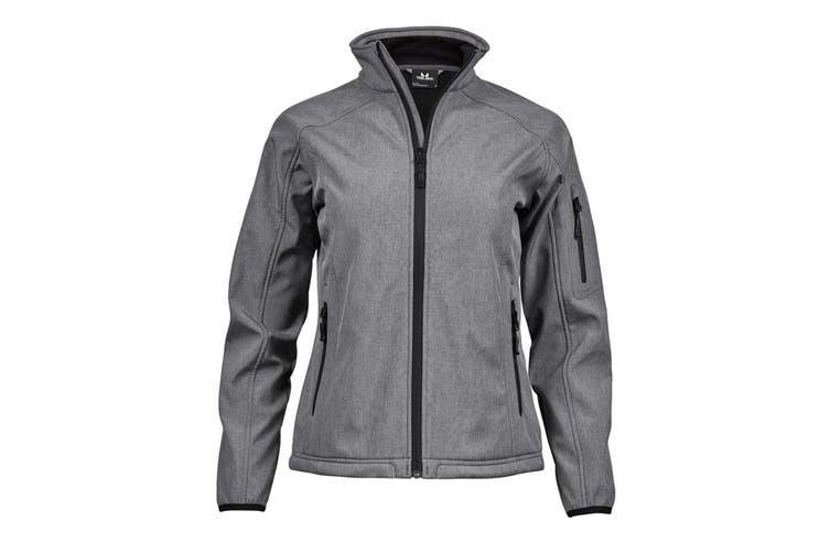 Tee Jays Womens/Ladies Performance Softshell Jacket (Grey Melange) (XL)