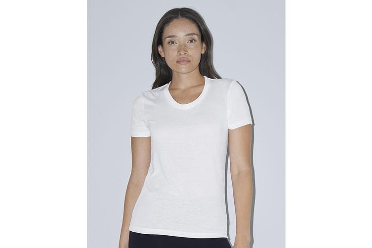 American Apparel Womens/Ladies Short Sleeved Sublimation T-Shirt (White) (L)