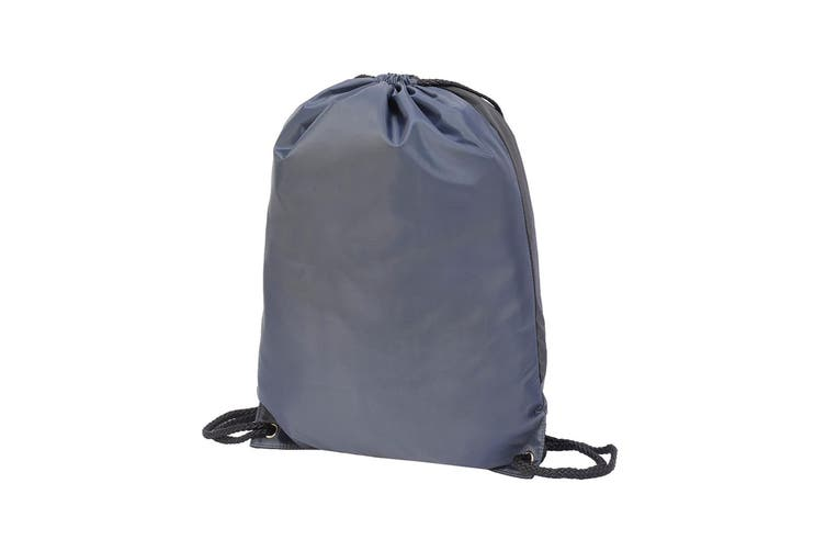 Shugon Stafford Contrast Drawstring Bag (Grey/Black) (One Size)
